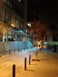 El carrer d'Eduard Flo il·luminat amb leds