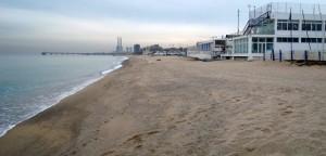 Foto de la platja ja reconstituida