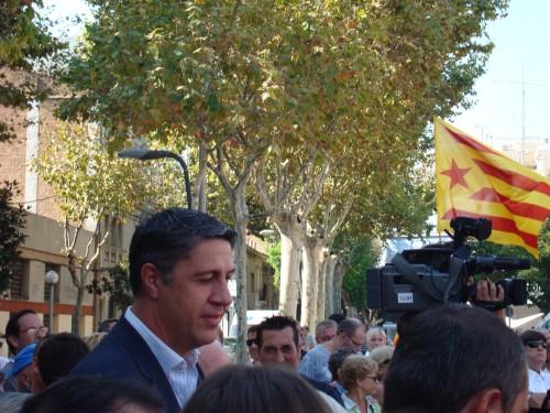 Fotografia on es veu l'alcalde de Badalona a la Diada Nacional de Catalunya 2011